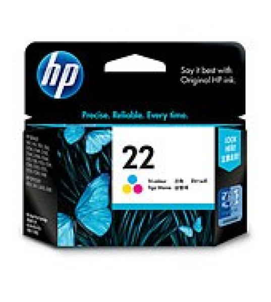 HP  22 Tri-colour Ink 165 Page Yield For D23xx C9352AA