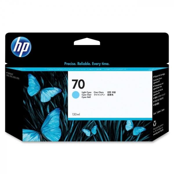 HP  70 Light Cyan Ink 130 Ml For Dj Z2100 C9390A