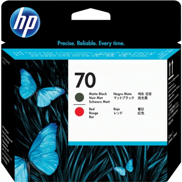 HP  70 Matte Black And Red C9409A
