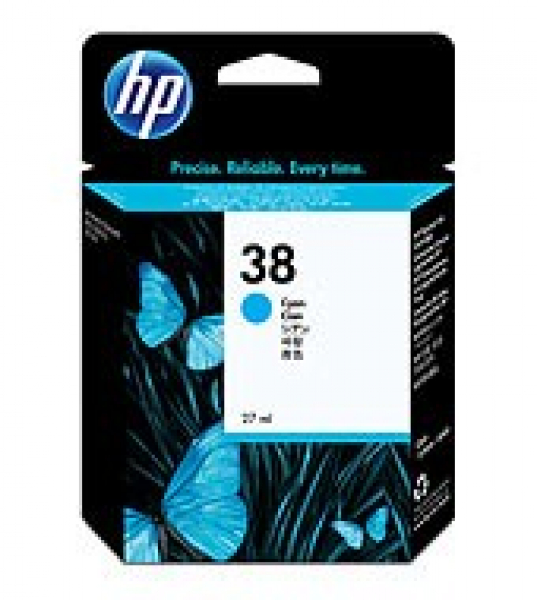 HP  38 Cyan Ink 4500 Photo (pigment) Yield For C9415A