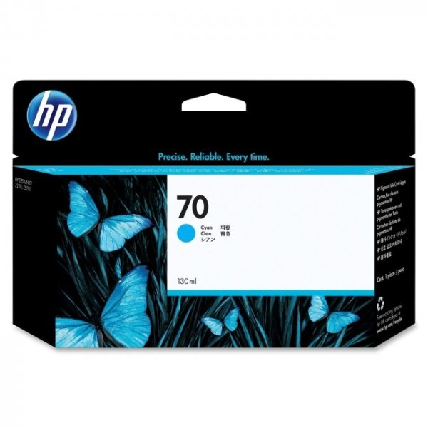 HP  70 Cyan Ink 130 Ml For Z2100 3100 C9452A