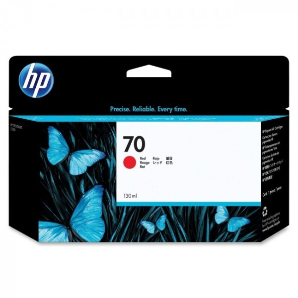 HP  70 Red Designjet Ink Cartridge 130ml - C9456A