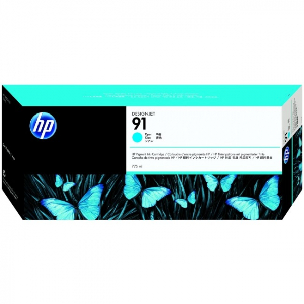 HP  91 Cyan Ink 775-ml For Dj C9467A