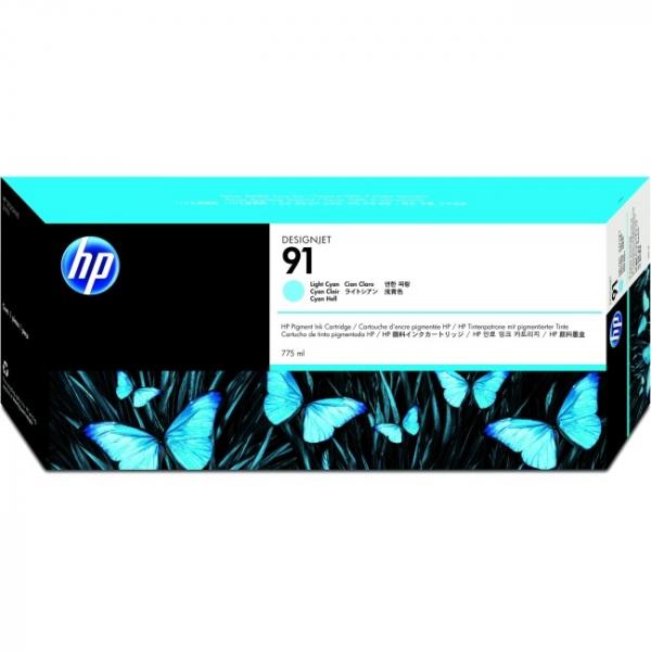 HP  91 Light Cyan Ink 775-ml For Dj C9470A