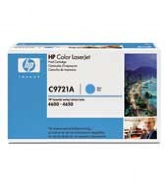 HP  641a Cyan Toner Cartridge 8000 Page Yield C9721A