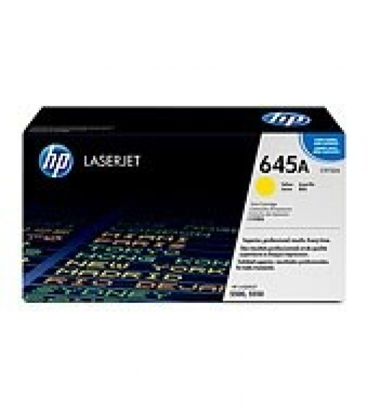 HP  645a Yellow Toner 12000 Page Yield For Clj C9732A