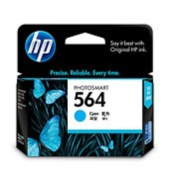 HP  564 Cyan Ink 300 Page Yield For CB318WA