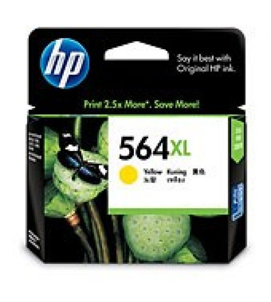 HP  564xl Yellow Ink 750 Page Yield For CB325WA