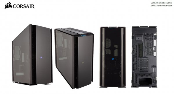 Corsair  Obsidian Series 1000d Super Tower Case Premium Tempe ( Cc-9011148-ww )