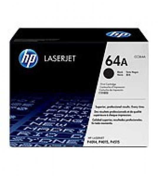 HP  64a Black Toner 10000 Page Yield For Lj CC364A