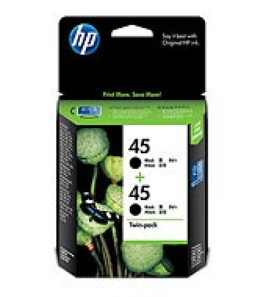 HP  45 Black Twin Ink Pack 2x 830 Page Yield CC625AA