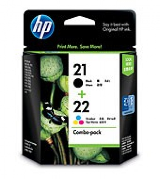 HP 21 & 22 Combo Ink Pack CC630AA