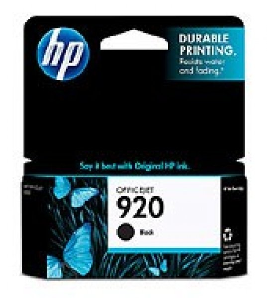 HP  920 Black Ink 420 Page Yield For Oj 6000 & CD971AA