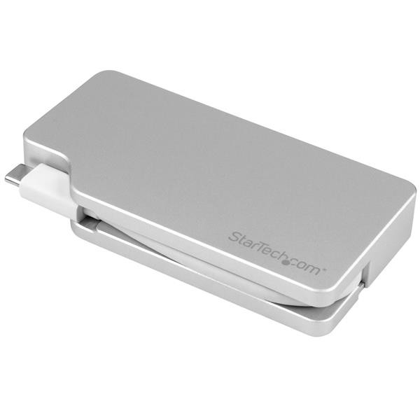 STARTECH Aluminum Travel A/v Adapter: 4-in-1 CDPVGDVHDMDP