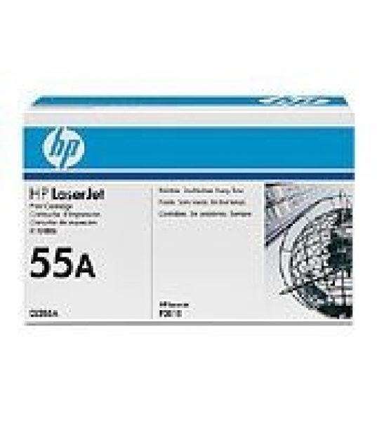 HP  55a Black Toner 6000 Page Yield For Lj CE255A