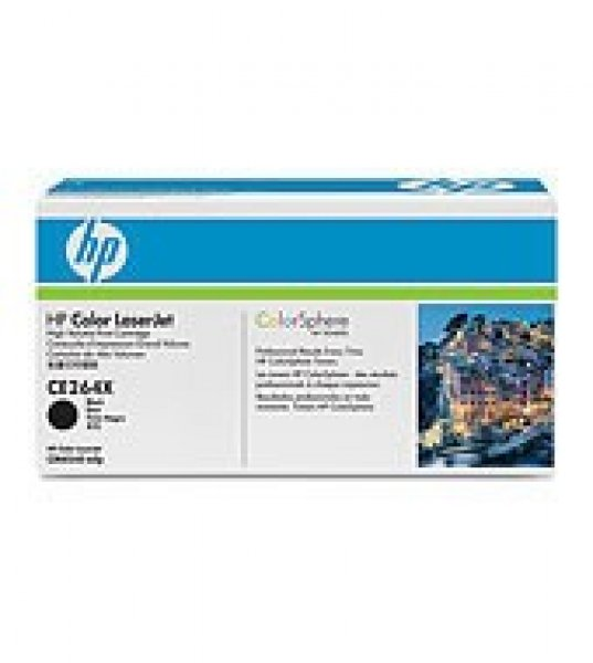 HP  646x Black Toner 17000 Page Yield For Clj CE264X