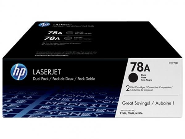 HP  78a Blk Dual Pack Lj Toner CE278AD