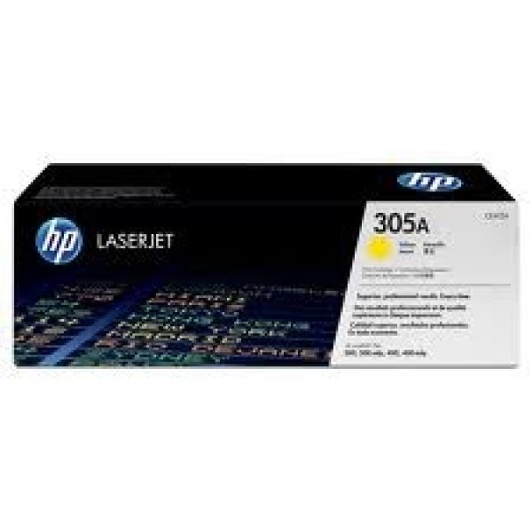 HP  305a Yellow Toner 2600 Page Yield For M451 CE412A