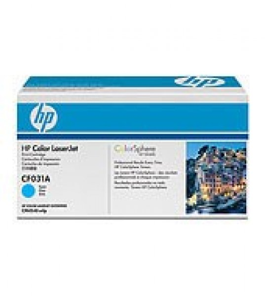HP  646a Cyan Toner 12500 Page Yield For Clj CF031A