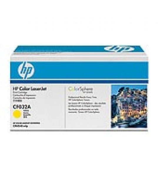 HP  646a Yellow Toner 12500 Page Yield For Clj CF032A