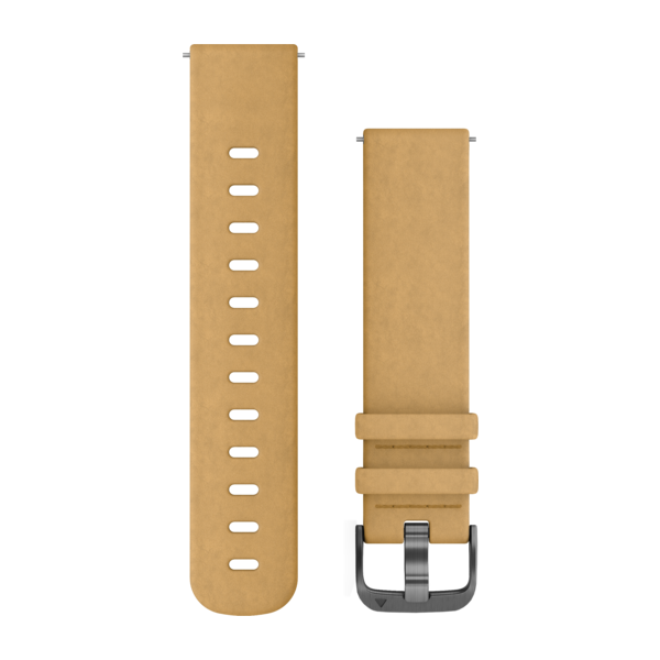 GARMIN Quick Release Band Tan Suede Band With Slate Hardware (010-12691-04)