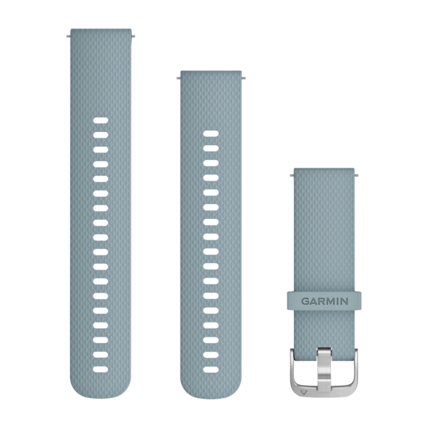 GARMIN Quick Release Band Sea Foam Silicone Band With Silver Hardwa (010-12691-06)