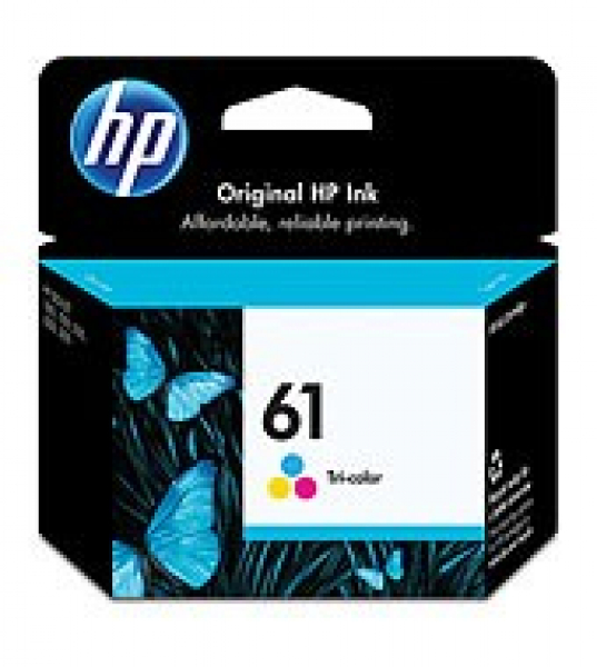 HP  61 Tri-colour Ink 165 Page Yield For Dj CH562WA