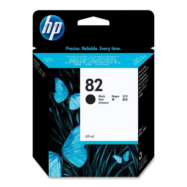 HP  82 Black 69-ml Ink Cartridge For Designjet CH565A