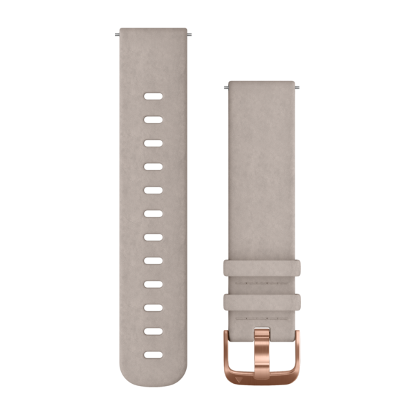 GARMIN Quick Release Band Gray Suede Band With Rose Gold Hardware (010-12691-07)
