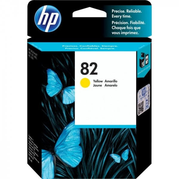 HP  82 Yellow 28-ml Ink CH568A