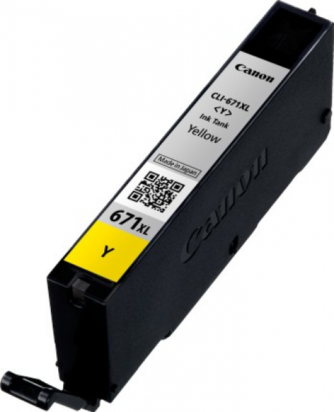 CANON Yellow Extra Large Ink CLI671XLY