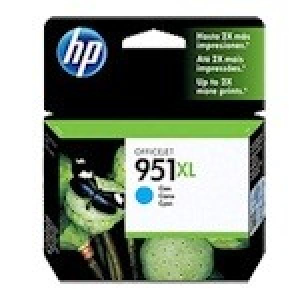 HP  951xl Cyan Ink 1500 Page Yield For Oj Pro CN046AA