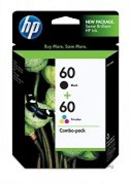 HP  60 Ink Combo Pack Black Tri-col 365 CN067AA