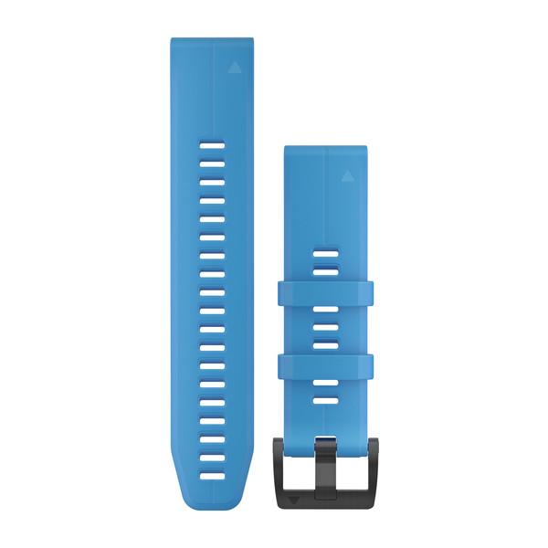 GARMIN Quickfet 22 Watch Bands Cyan Blue Silicone (010-12740-03)