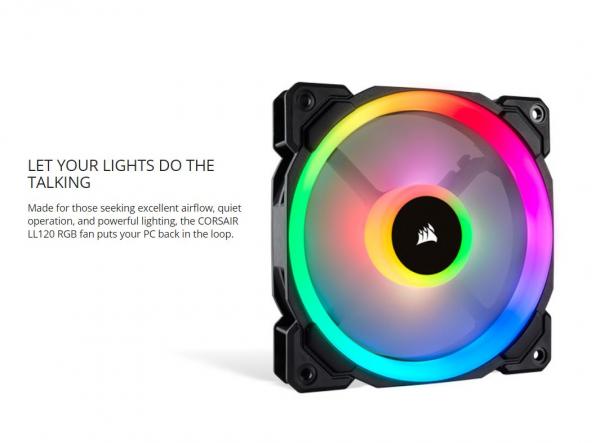 CORSAIR  Ll Series Ll120 Rgb 120mm Dual Light CO-9050071-WW