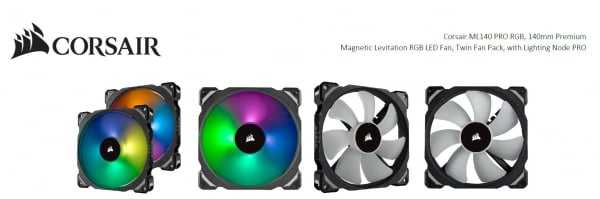 CORSAIR  Ml140 Pro Rgb 2 Fan Pack With Lighting CO-9050078-WW