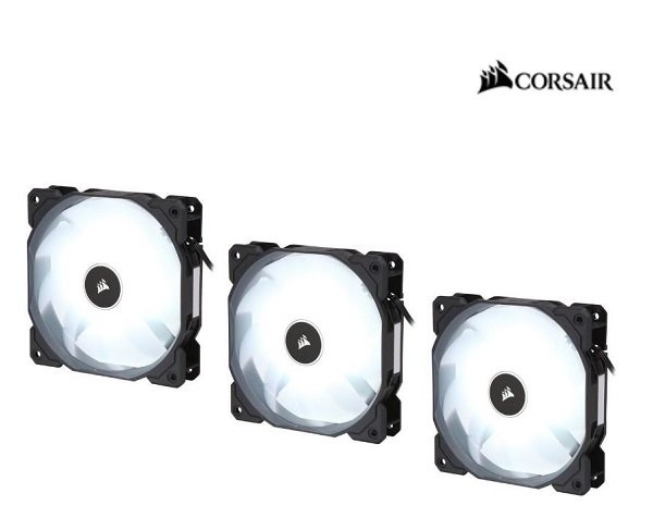 Corsair  Air Flow 120mm Fan Low Noise Edition / White LED ( Co-9050082-ww )