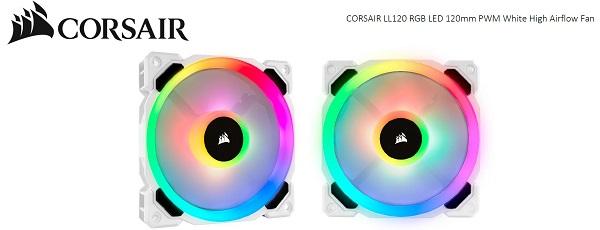 Corsair White Ll120 Rgb 120mm Fan Sing ( Co-9050091-ww )