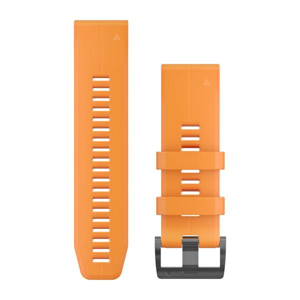 Garmin Quickfet 26 Watch Bands Solar Feare Orange Silicone ( 010-12741-03 )