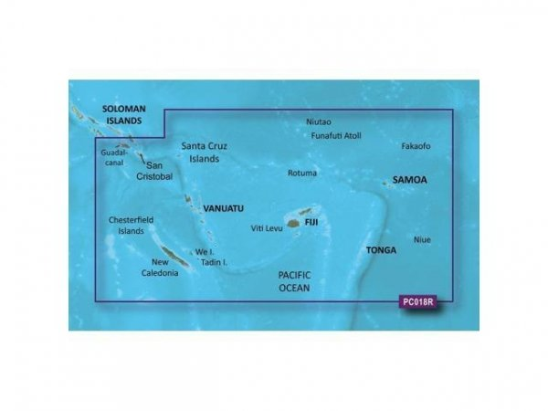 GARMIN VPC018R New Caledonia To Fiji-SD CARD Bluechart Micro/SD (010-C0865-00)