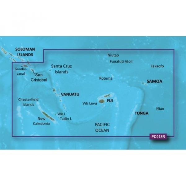GARMIN Bluechart G2 HXPC018R New Caledonia to Fiji - Micro/SD (010-C0865-20)