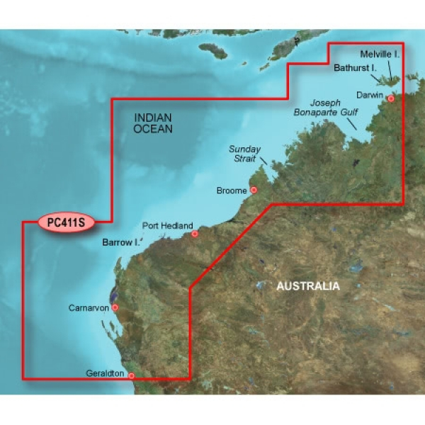 GARMIN G2 HD Geraldton to Darwin Bluechart Micro/SD (010-C0869-20)