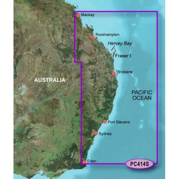 GARMIN Bluechart G2 HXPC414S Mackay to Twofold Bay Micro/SD (010-C0872-20)