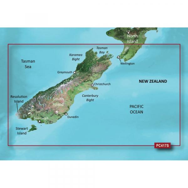 GARMIN VPC417S New Zealand South Bluechart G2 Vision (010-C0875-00)