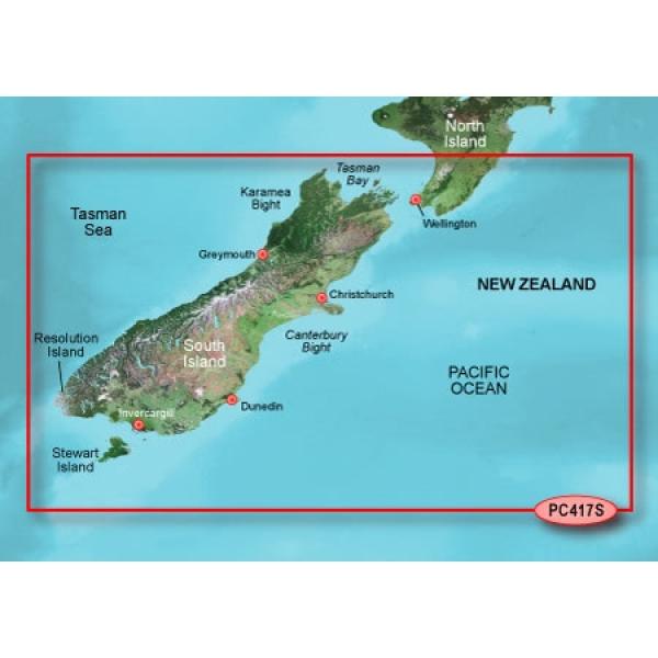 GARMIN G2 HD New Zealand South Bluechart  Micro/SD (010-C0875-20)