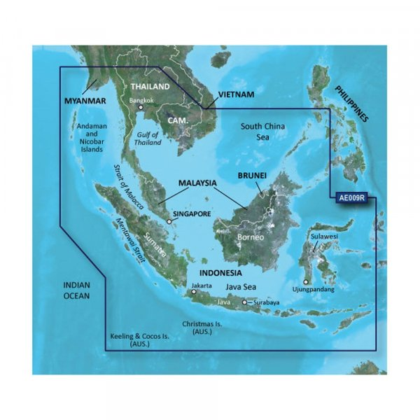GARMIN Bluechart G2 HXAE009R Singapore Malaysia Indonesia Micro/SD (010-C0884-20)