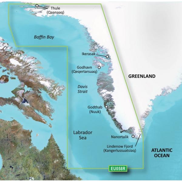 GARMIN Bluechart G2 HXEU058R Greenland West Micro/SD (010-C1001-20)