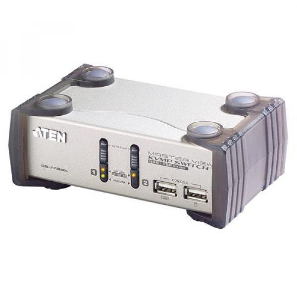 ATEN  2 Port Usb Kvmp Switch With Audio And Usb CS1732AC-AT