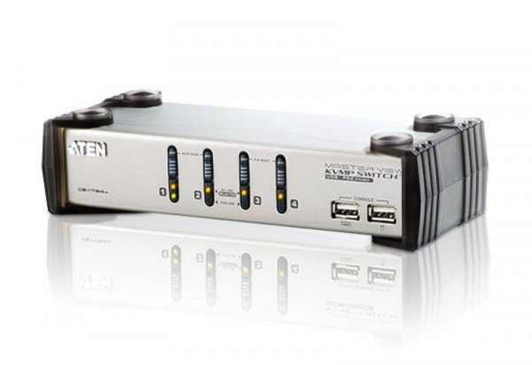 ATEN  4 Port Usb Kvmp Switch With Audio And Usb CS1734AC-AT