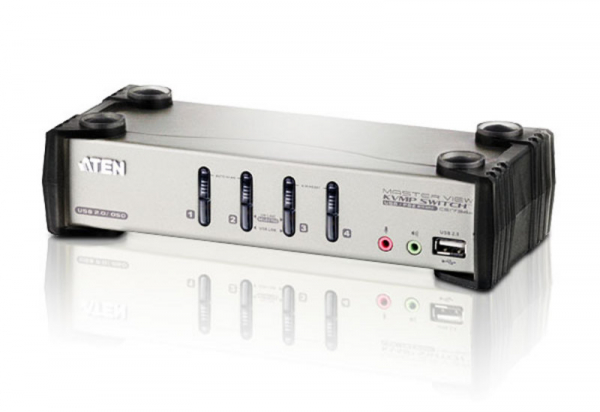 ATEN  4 Port Usb Kvmp Switch With Audio And Osd CS1734B-AT-U